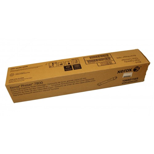 Xerox Phaser 7800 Genuine High Capacity Black Toner Cartridge (24,000 Pages) - 106R01569
