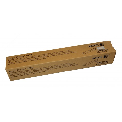 Xerox Phaser 7800 Genuine High Capacity Magenta Toner Cartridge (17,200 Pages) - 106R01567